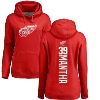 Women's Anthony Mantha Detroit Red Wings Red Backer Pullover Hoodie